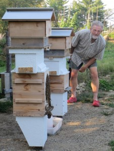 A recent addition are these hives with thousands of bees--their essential partners.