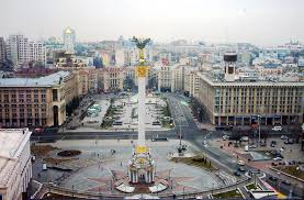 Magnificent Independence  Square in Kiev in peaceful times . I was there often. Never imagined it would the scene of the violent showdown that toppled the government,.