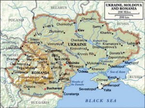 Ukraine is big--second biggest in Europe. Notice Crimea, the peninsula at the bottom. Notice Kiev, the capita. And Chernihiv, my city, right above it.l