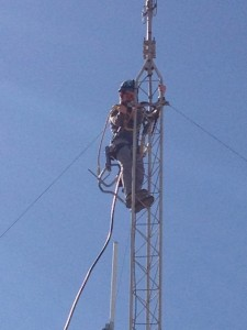 A big day. The 75-foot antenna is finally set up.Raising the money for all this was a feat.