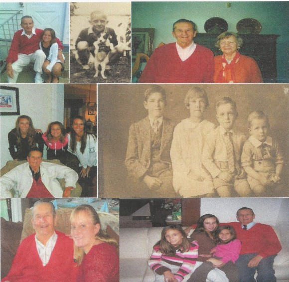You'll enjoy this montage of photos of Bob sent to me by his son Rob. Actually, it's part of his montage. Notice the four photos of Bob with his trademark red sweater and his trademark smile!
