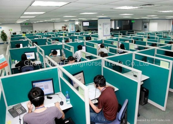 Mind-boggling, I thought when I came across this photo. We operate call centers in several countries --wherever the work can be done most cheaply. Right now The Philippines is considered the call center capital of the world.